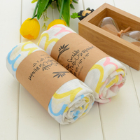 High quality breathable combed star pattern infant security baby softtextile cotton muslin swaddle blanket