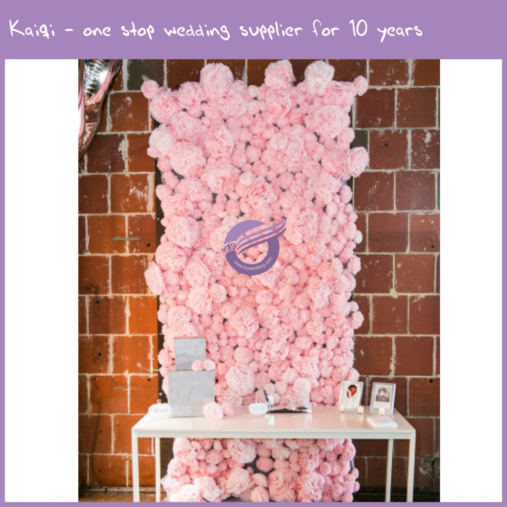 RH00450 wedding background decoration, pink artificial flower wall, hot sale flower backdrop