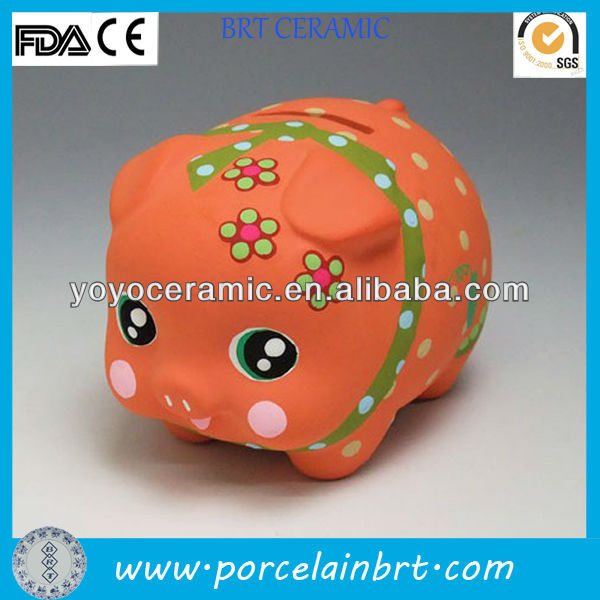 delicate hot sale ceramic pottery money boxes