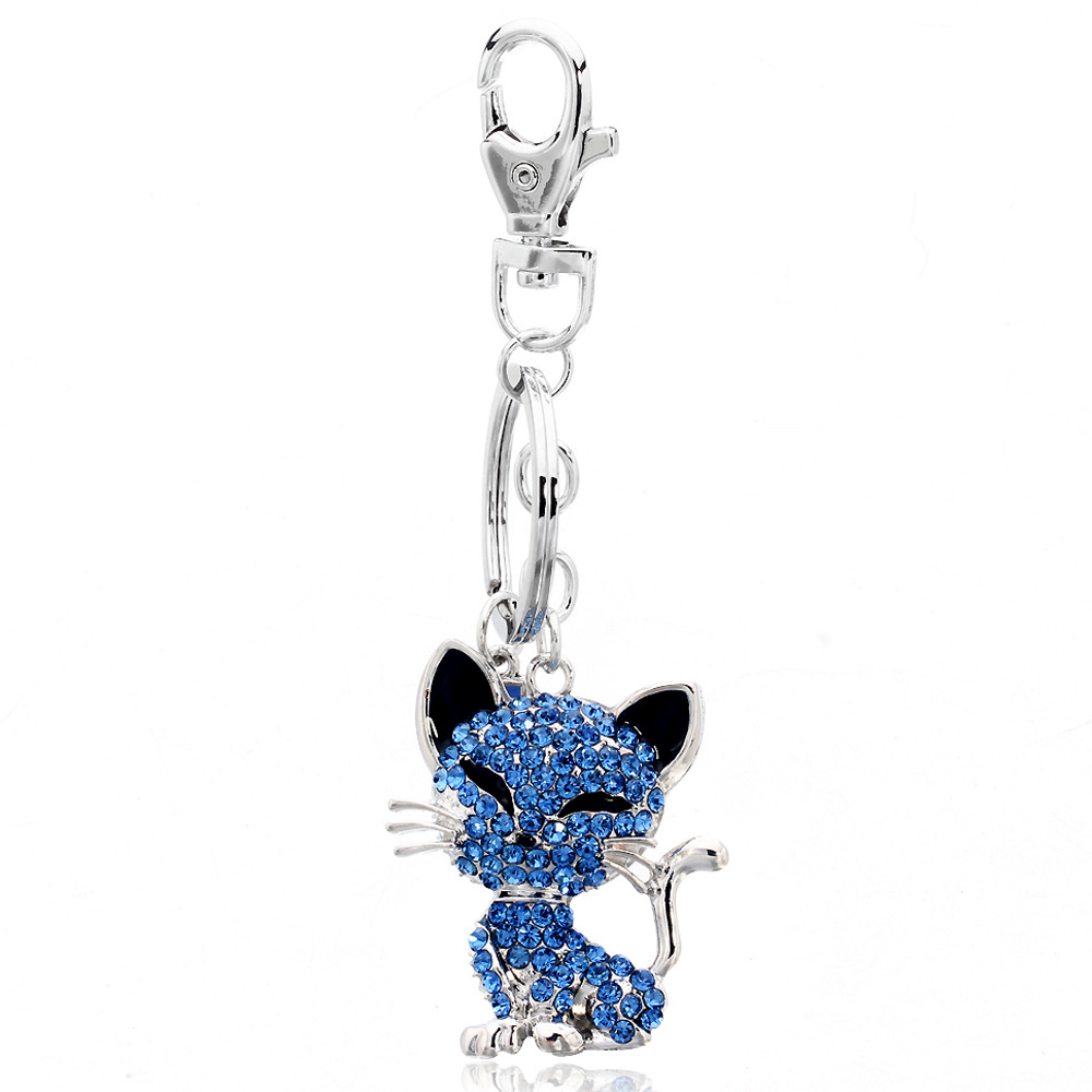 Lovely new york high quality cat keychain