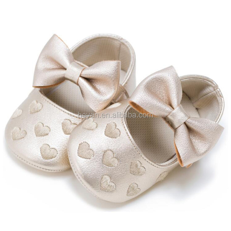 Cute Newborn Lovely Baby Girls Soft Shoes Wholesale 0-18Months