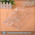 Plastic hotel Shampoo Packaging pvc vinyl zip close clear bag with reinforced handle