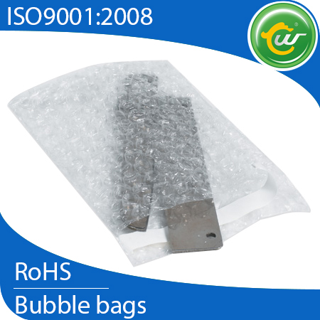 Poly bubble bags, air bubble plastic packing bag for protective