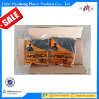 hot selling HDPE/LDPE plastic garbage bags trash bags rubbish bags on roll with paper label