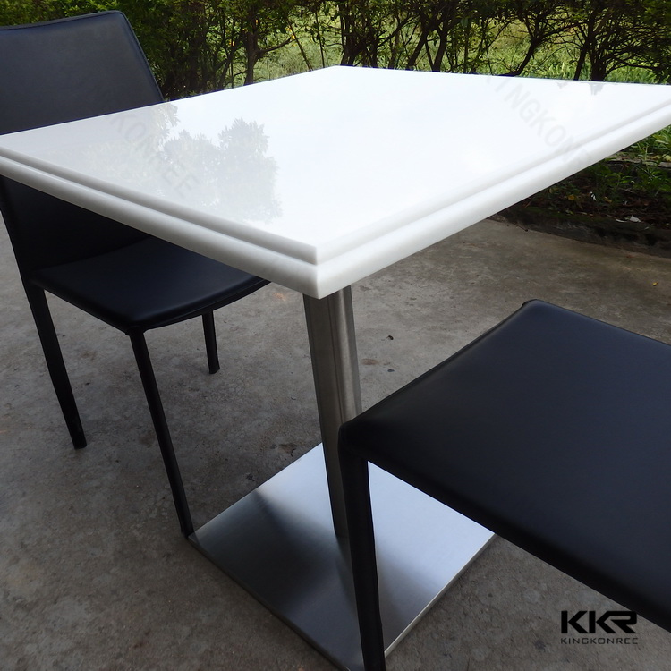 Special shape solid surface garden dining table / artificial stone outdoor dining table