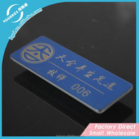 Blue color Decorative Metal Nameplates