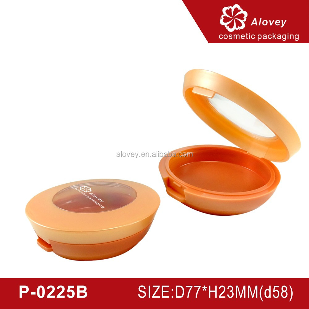 Empty blush compact powder case container