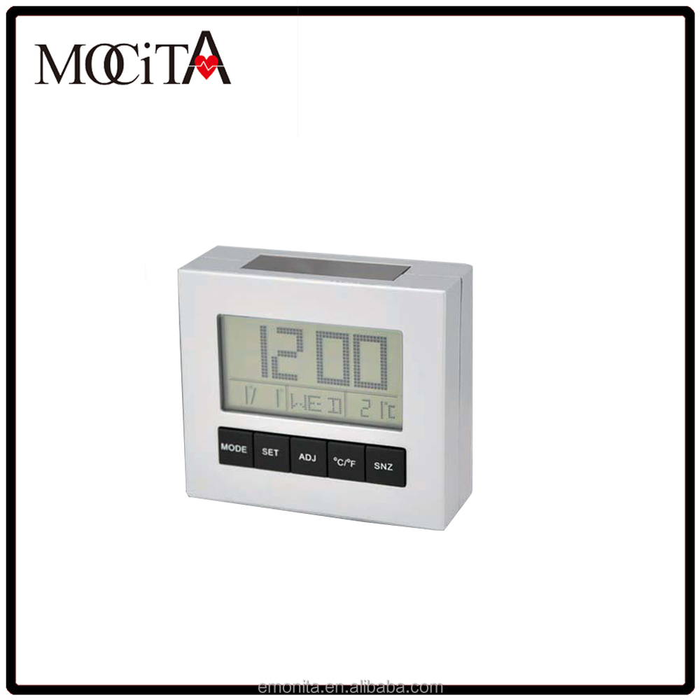 Digital Alarm clock with temperature display , LCD clock with alarm and snooze