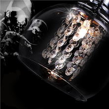 Hot selling crystal glass pendant lighting with led bulb