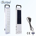 Solar panel rechargeable LED emergency light