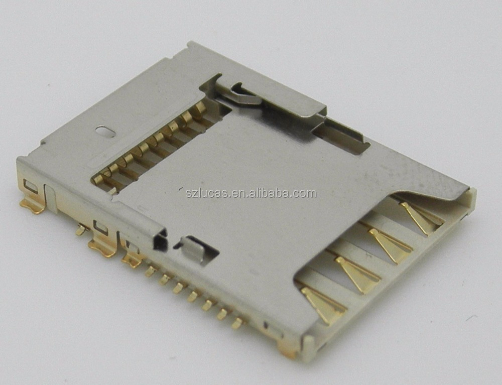 MICRO SD+MICRO SIM 2IN1 PUSH PULL TYPE DUAL CARD CONNECTOR ON PCB BOARD