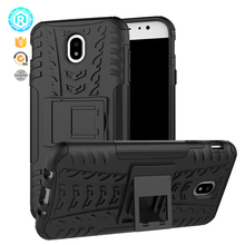 Dual Layer Hybrid Tire Strip Protective Case hybrid phone case for Samsung J7 2017 back cover