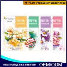 The best factory price Deep Cleansing facial mask private label fiber flower mask pack