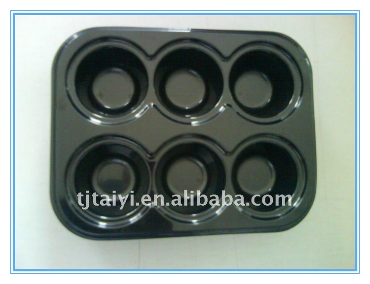 Fast food serving tray Oven baking tray 6 compartments tray TY-0019