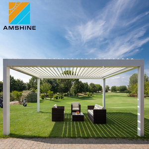 Outdoor Motorized Aluminum Sun Shades Retractable Awning
