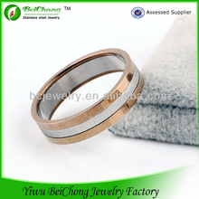 2013 new products stainless Steel Jewelry china manufacturer men ring model 18k rose gold ring