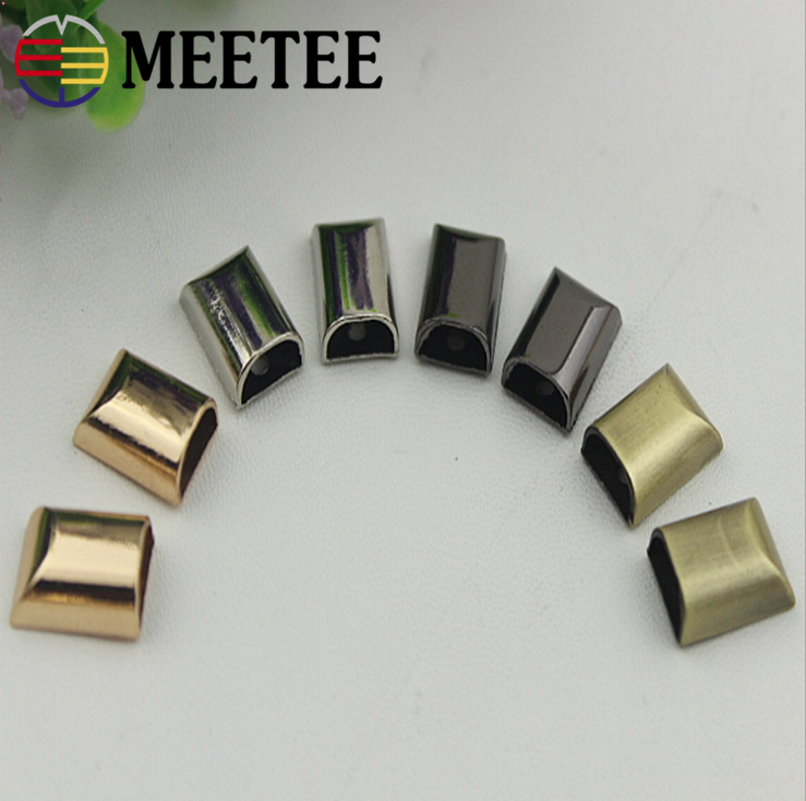 metal zipper closed-end bag hardware accessories zipper stopper for Luggage accessories leather hardware accessories