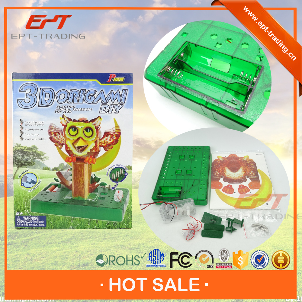 Brand new diy craft 3d puzzle game origami owl toy