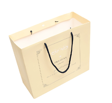 high quality promotional gift paper bag with ribbon handle