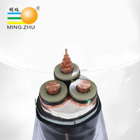 26/35KV Medium voltage XLPE insulated and PVC jacketed cable, 3 core PVC cable, 35KV electrical cable