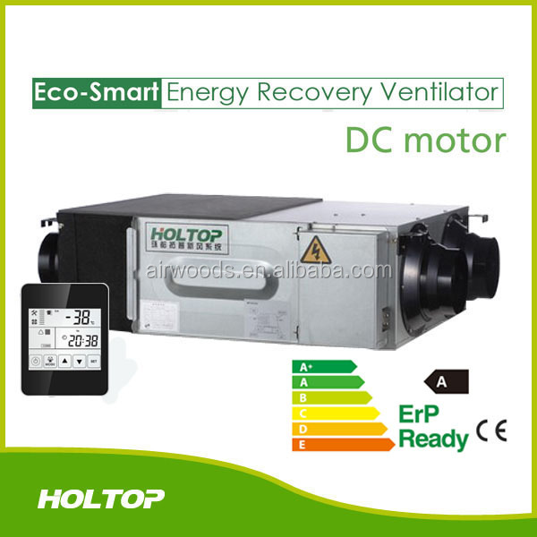 fresh air ventilator/DC fan air recuperator/air heat exchangers Energy Recovery Ventilators