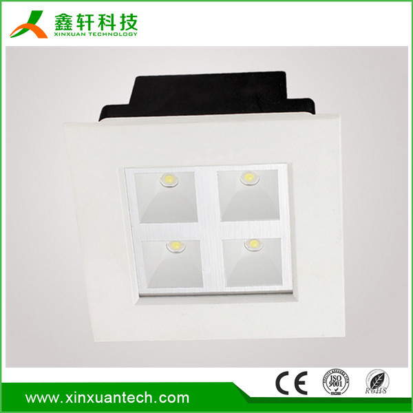 High quality indoor recessed mounted grille wholesale led square panel light with high lumen