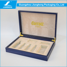 Topper pu leather hinged box for electronic packaging box