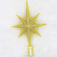 2016 Star Shape Chrismas Tree Top Decoration With glitter dust