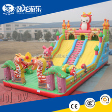 Hot inflatable dry slide/ inflatable dragon slide with climbing for children