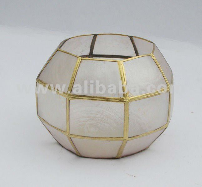 Capiz Ball Lamp / Ball Candle Holder / Shell Lamp