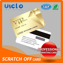 Factory directly sell pvc scratch panel calling card factory