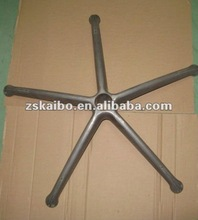 Customized aluminium die casting chair base/die cast parts for furniture