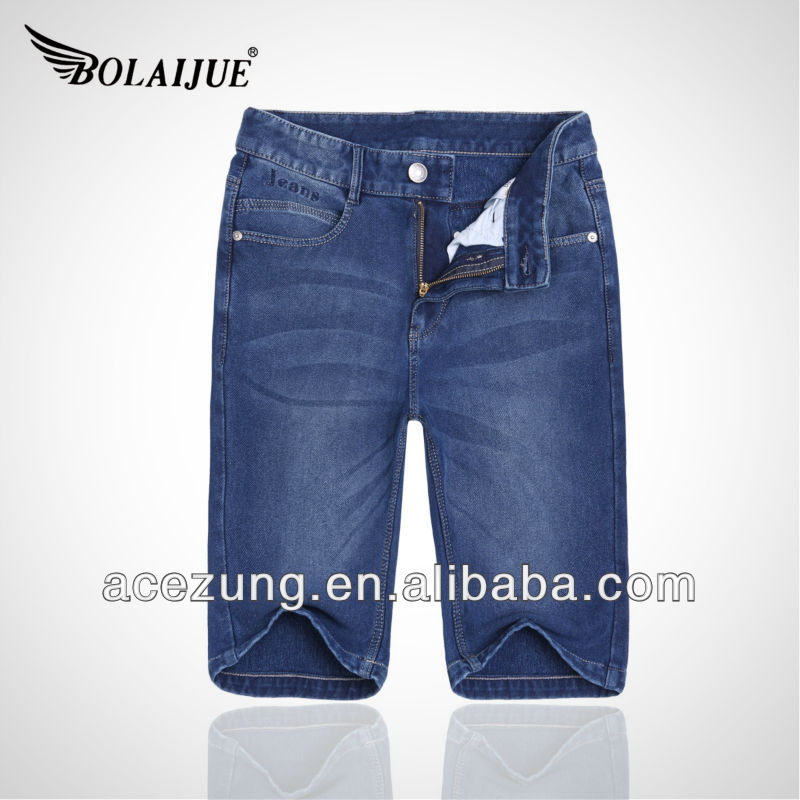summer fashionable OEM shorts knitted new man jeans fashion brand denim jeans B14107CWFKA2