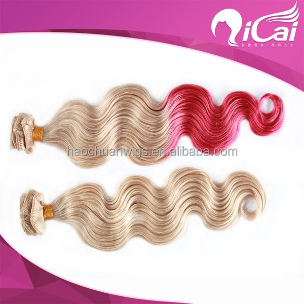2015 qicaihair 100% virgin chinese human hair,body wave hair extension