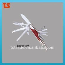 2014 New design multi knife pocket knife multi function LED knife K5011W