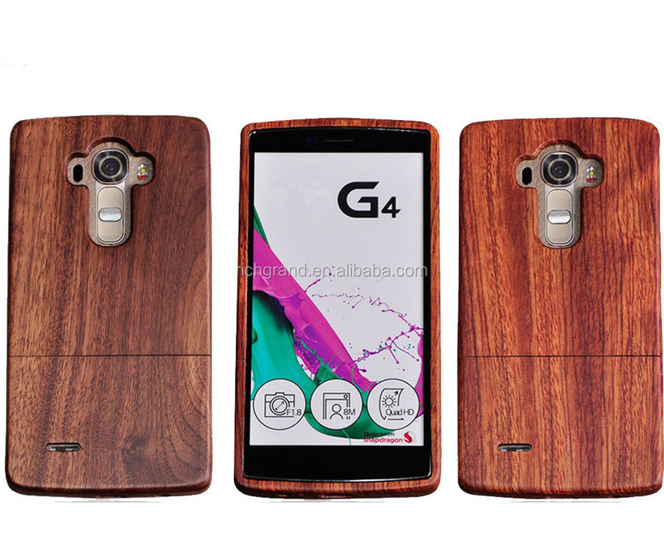 Natural Real Wooden Phone Protector Back Case Cover For LG G2/G3/G4