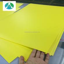 Printable Colorful Bright Yellow Rigid PVC Plastic Sheet for Sign Board