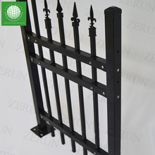 2018 hot selling used pvc black metal assemble picket fence