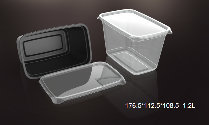 clear plastic square pp disposable fresh box food disposables packing containers wholesale bento box