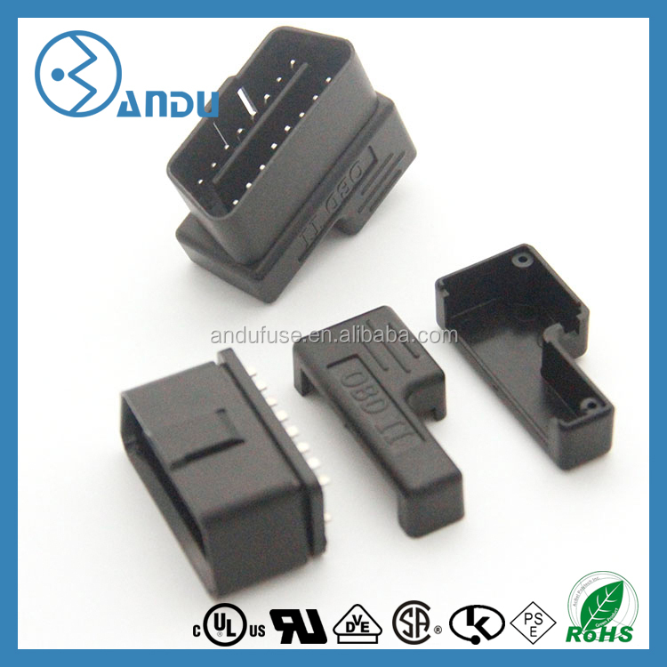 Flat+Thin As Noodle OBDII , OBD-II , OBD 2 OBD2 16 Pin ELM327 Male To dual Female Y Splitter Elbow Extension Cable