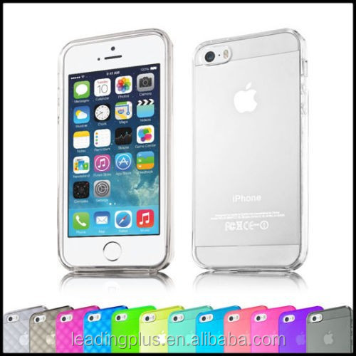 gel phone case cover ultra clear TPU back case for iPhone 5 case