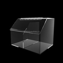 Luxury Plexiglass Storage Box Acrylic Candy Holder Display Boxes with Sliding Lid