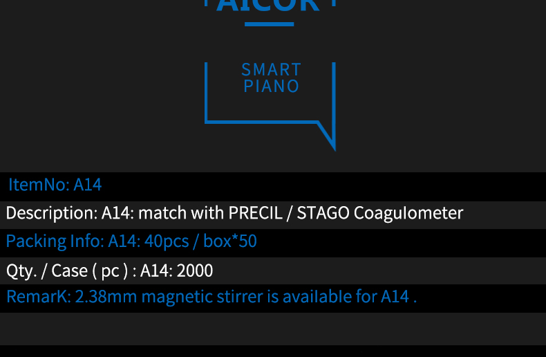 Match with Precil Stago coagulometer