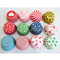 10000pcs mixed 10 designs greaseproof paper cupcake liners,