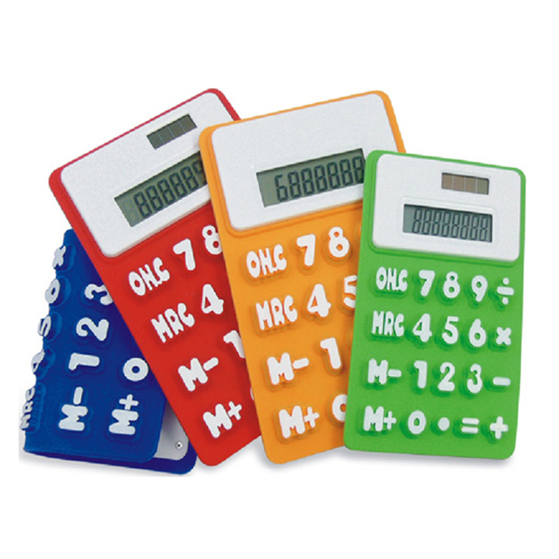 Flexible Silicone Mini Pocket Size Calculators for Promotion Gifts