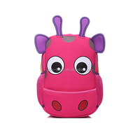 Animal hippo preschool backpack school bag for children