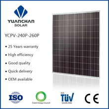 Yingli solar panel poly 260 watt for Middle East market solar module