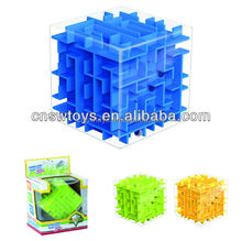 transparent 3d maze cube puzzle game