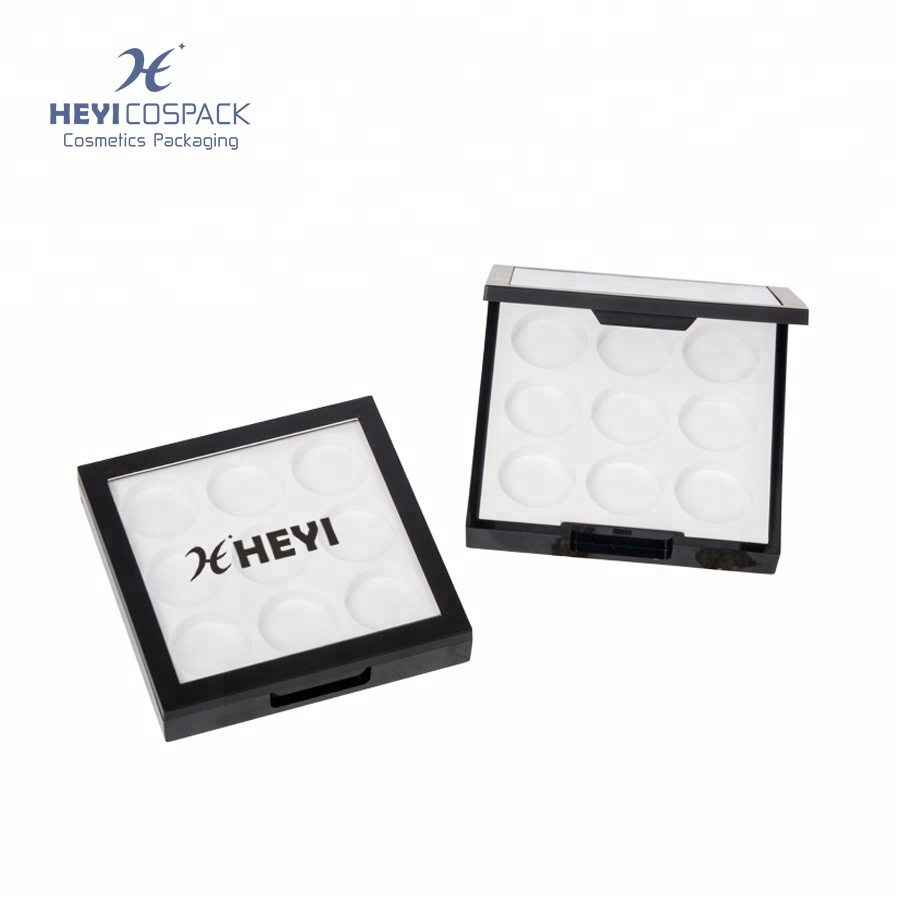 Empty plastic square eyeshadow <strong>packings</strong> with custom logo