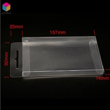 Foldable Small Clear Hard Plastic Packing Box For Display